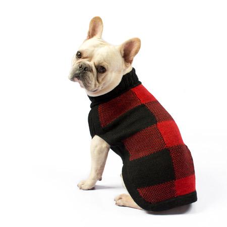 Alqo-Wasi-Buffalo-Plaid-Dog-Sweater-Red-Lifestyle-Frenchie-450